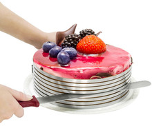 Newest Adjustable Retractable Circle Mousse Ring Mould Stainless Steel Bakeware Baking Tool Set Cake Mold