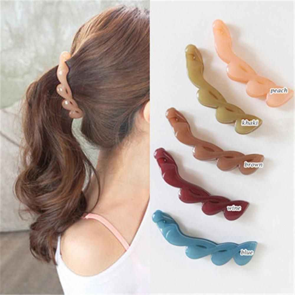 New Fashion Girls Clamp Banana Hair Grip Clip Korean Hairpin Ponytail Holder Women Hair Clip Accessories For Dropshipping