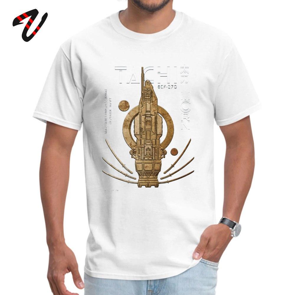 Retro Men's Tops Shirts The Expanse Rocinante Tachi Comics T-shirts Pure Cotton Short Sleeve Family T-shirts Round Collar The Expanse Rocinante Tachi 10857 white