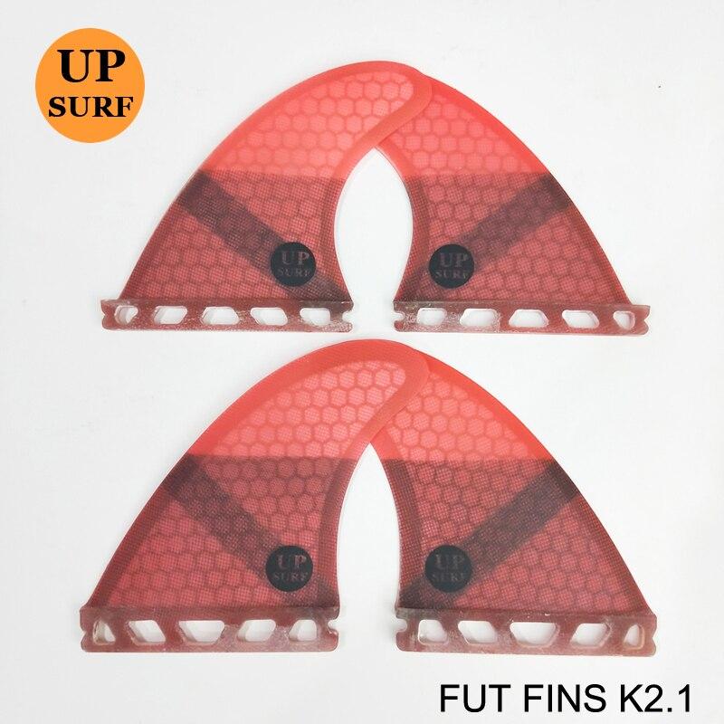 Planche de surf ailerons futurs K2.1 Quad Ailettes Honeycomb Quilhas L'avenir En Fiber De Verre Quille dans Le Surf 4 fin Set - 2