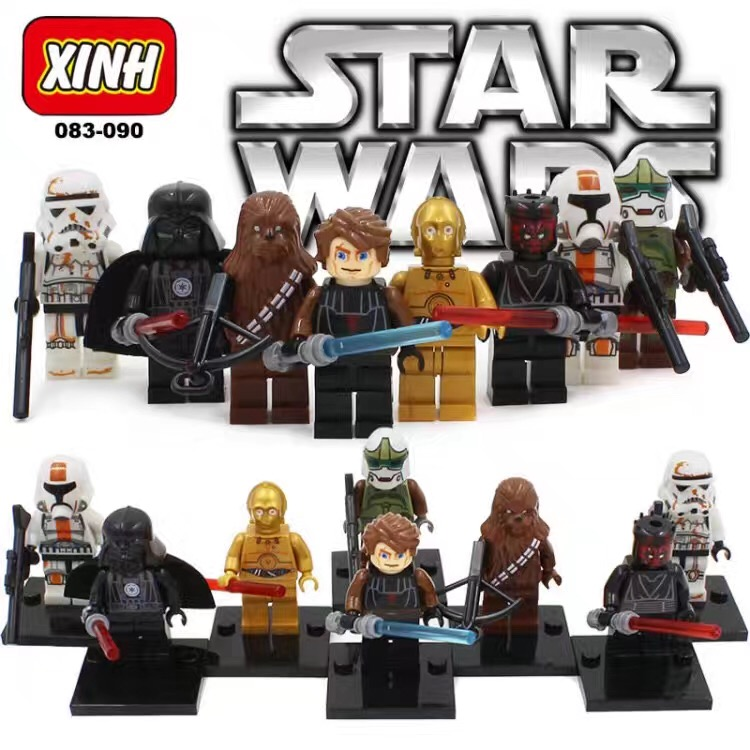32pcs Set Star wars Darth Vader Yoda HanSolo Stormtrooper Super Hero Custom Lego