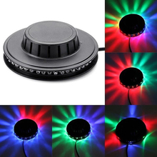 8W 48 נוריות RGB אוטומטי צבע שינוי מסתובב חמניות UFO LED שלב אור בר ריקודי דיסקו המפלגה DJ מועדון פאב מוסיקה אורות