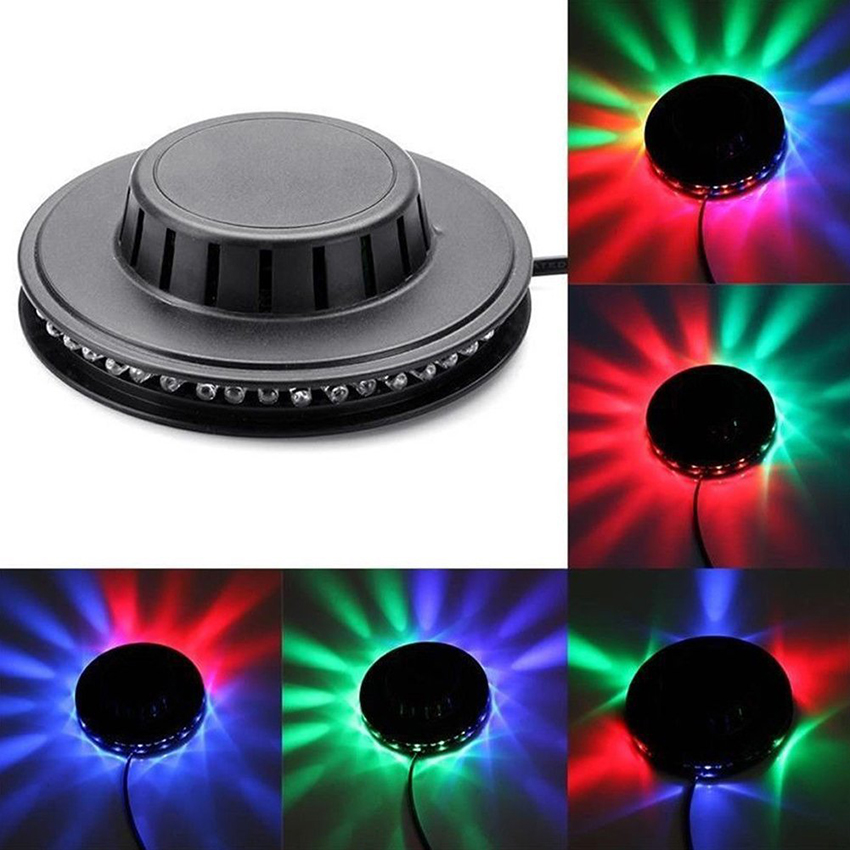 8W 48LEDs RGB Auto Color Changing Rotating Sunflower UFO LED Stage Light Bar Disco Dancing Party DJ Club Pub Music Lights-in Stage Lighting Effect from Lights & Lighting on
