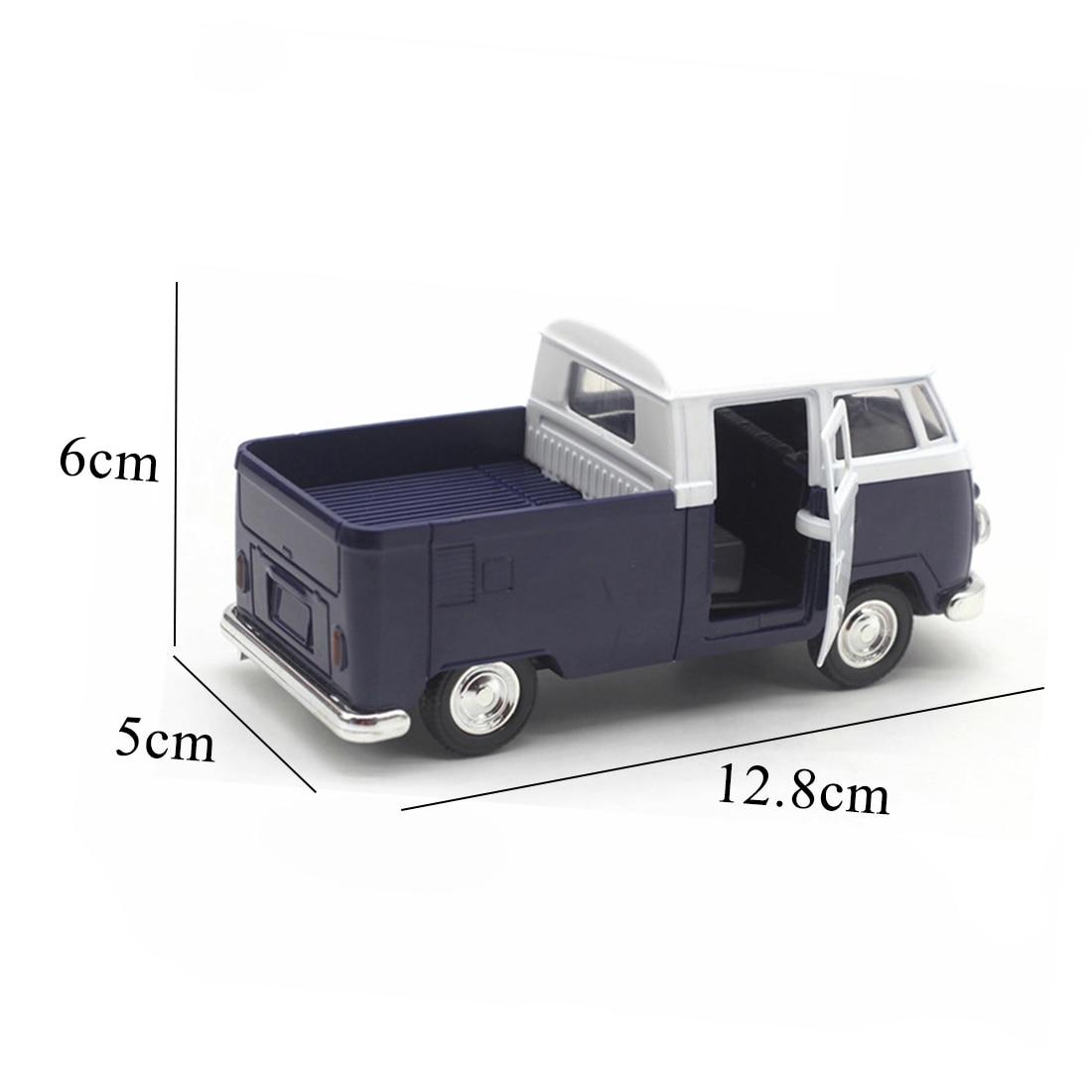 Горячая Распродажа синий моделирование 1:32 звук и свет музыка Ретро Ван сплав модель