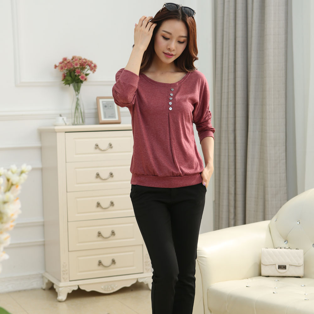 HTB1j3ZvJpXXXXX8XVXXq6xXFXXXi - Tee fashion O-neck tshirt women casual loose bat sleeve cotton T-shirt
