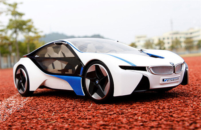 2015 new 114 rc car kids toys electric remote control sports cars nice i8 concept scale models car nice gifts for child in rc cars from toys hobbies on