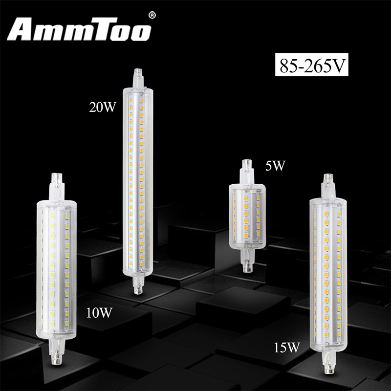 Dimmable r7s led lamp 5w 10w 15w 20w smd 2835 led r7s 78mm for R7s led 78mm 20w
