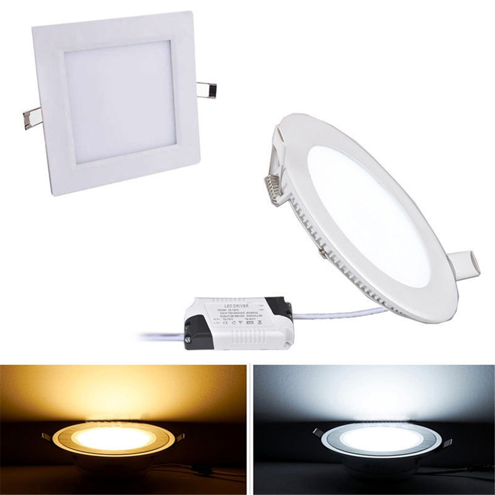 High quality with cheap price led panel light 36w 600x600 ac85 265v - Led Downlight 3w 4w 6w 9w 12w 15w 18w Led Ceiling Recessed Grid Downlight Slim Round Led Panel Light Ac85 265v Free Shipping