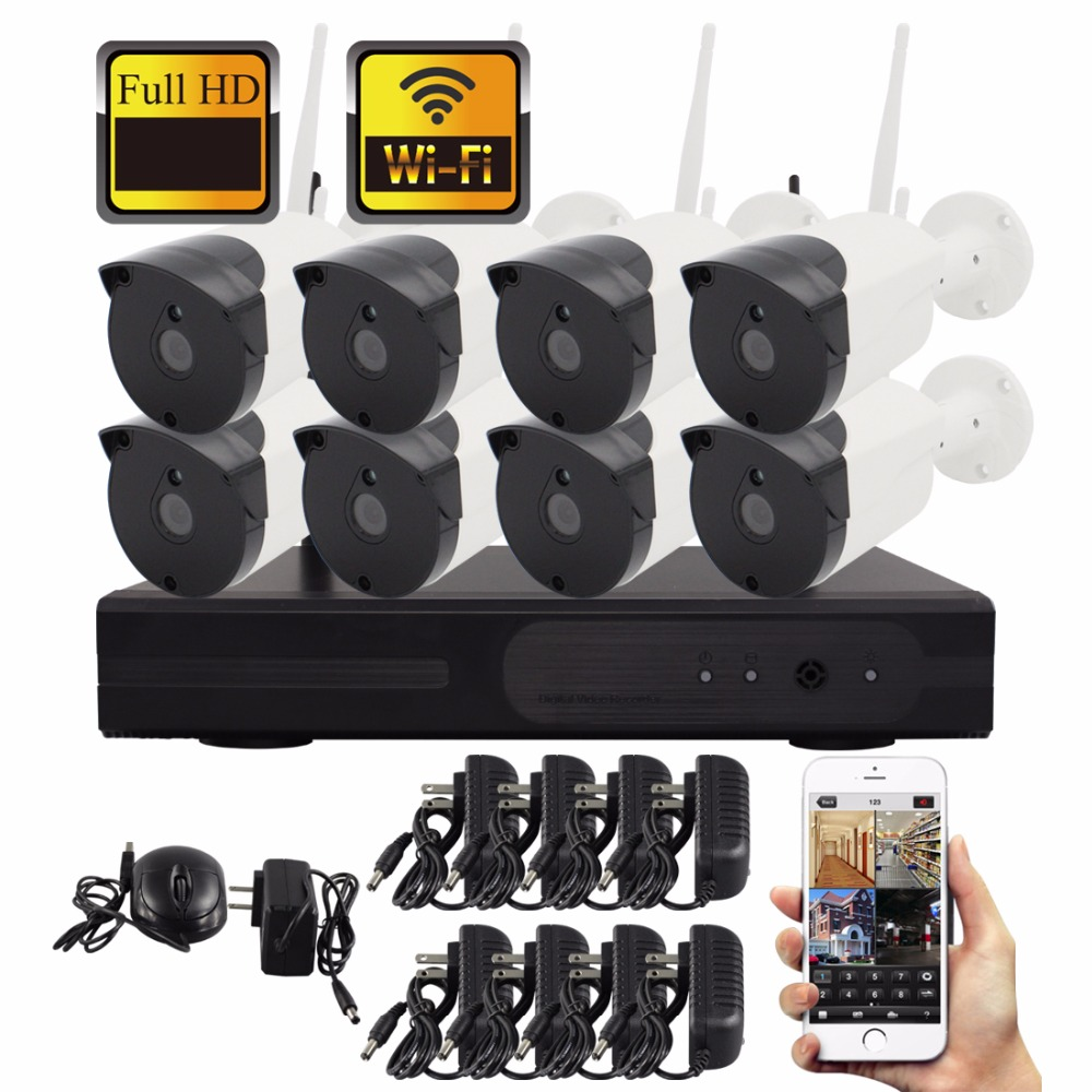 SmartYIBA Wireless Security Cameras for Home Business 960P CCTV System 4CH WIFI Video Surveillance IP 8CH