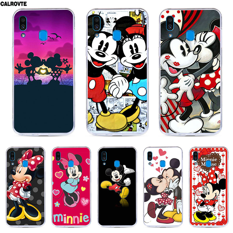 CALROVTE Minne Mickey <font><b>Case</b></font> For <font><b>Samsung</b></font> Galaxy A20 <font><b>Silicon</b></font> Back Coque For <font><b>Samsung</b></font> A20 A 20 <font><b>2019</b></font> A205F A205 SM-A205F Marble Cover image
