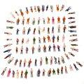 100 шт. Люди Модель OO Масштаб 1: 75 Mix Окрашенные Модель Люди Пейзаж Пластиковые Поезда Park Street Пассажирские Люди цифры