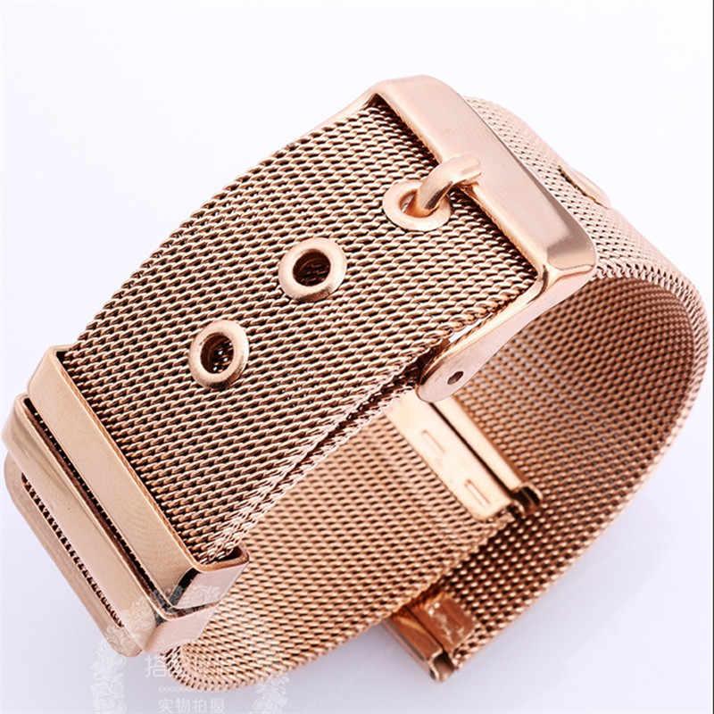 Модные брендовые женские часы ремешок высокого качества из нержавеющей стали