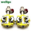 Wellgo QRD-WPD-M19 педали для горного велосипеда MTB быстроразъемные педали из алюминиевого сплава 6061 с ЧПУ самоблокирующиеся педали