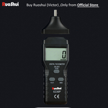 6236 P Victor RuoShui цифровой тахометр лазерный контактный измеритель об/мин для поверхностного контакта мотоцикла 2,5 ~ 99999 ОБ/мин 6235 P 6234 P