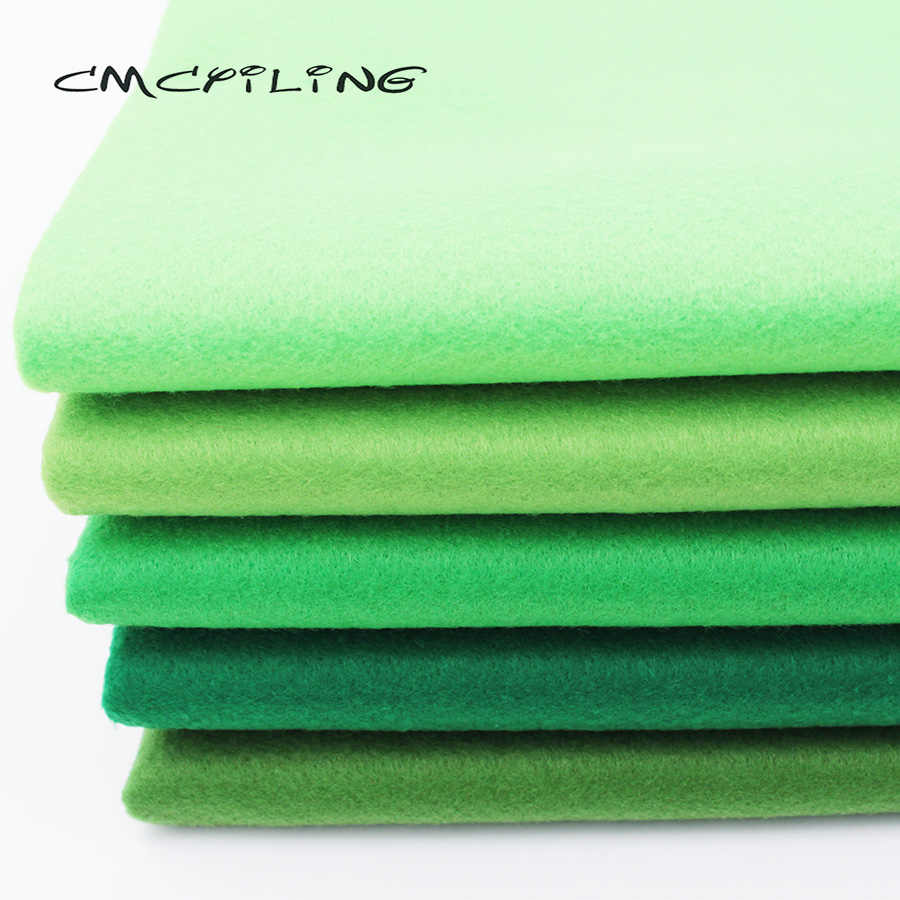 CMCYILING Green Series Soft Felt Fabric For Needlework DIY Sewing Dolls Crafts 1.2 MM Thickness Polyester Cloth 45*110CM