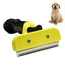 Расческа для собак из нержавеющей стали для чистки меха щетка для удаления волос кошки гребни для ухода за шерстью животных инструмент мягкая ручка аксессуары для домашних животных
