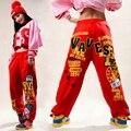 Adults Kids brand Adult Women Trousers wear sweatpants letter print ds costume female knitted  loose harem Hip hop dance pants