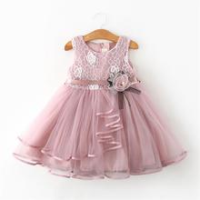 1-5Y Toddler Baby Kid Girls Dress Lace Flower Party Wedding Birthday Tutu Dresses For Christmas  Costumes