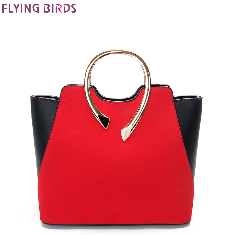 FLYING BIRDS Women Tote Leather Handbags Panelled Women Messenger Bags Shoulder Bag Bolsas high quality handbag female pouch зонты vogue зонты