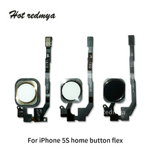 2pcs Home Button Flex Cable For iPhone 5G 5S SE Return Button Menu Keypad No Fingerprint Touch id Flex Cable Replacement Parts стоимость