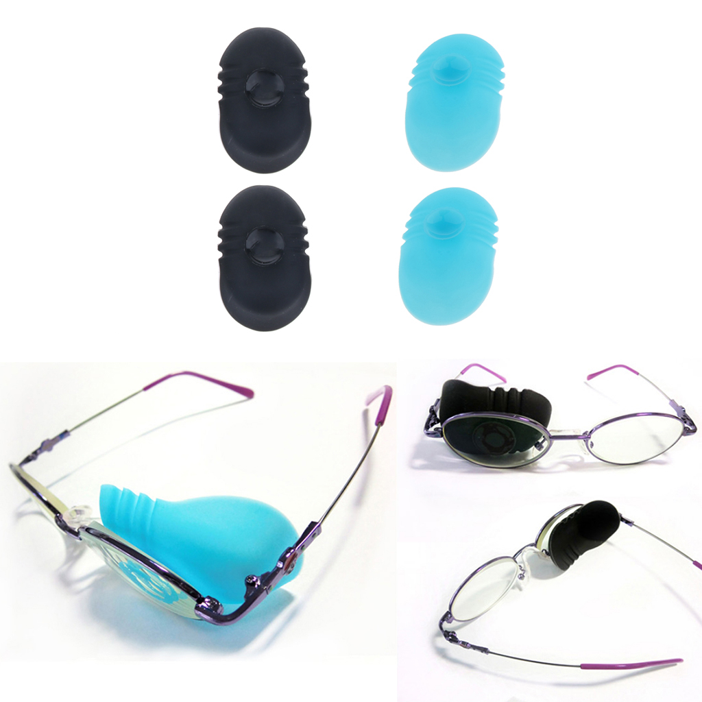 1 Pair Children Kids Lazy Eye Strabismus Amblyopia Suction Bandages Glasses Patch Black Blue Agreeable To Taste Men's Glasses Eyewear Accessories