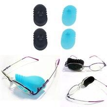 1 Pair Children Kids Lazy Eye Strabismus Amblyopia Suction Bandages Glasses Patch Black Blue
