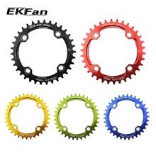 Бренд EKFan 104BCD 32 T/34 T/36 T Ultralight 7075-T6 MTB велосипед Узкий широкий цепное кольцо Овальный Круглый цепное колесо цикл шатун