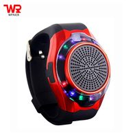 WPAIER U3 Wrist Watch wireless bluetooth speaker portable outdoors bluetooth mini speaker LED Flashing lights