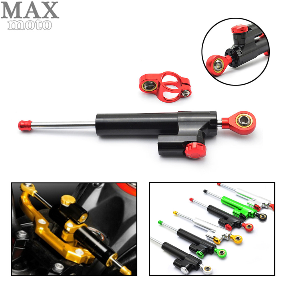 Universal Motorcycle CNC Damper Steering Stabilizer Damper Linear Reversed Safety Control for honda cb400 xj6 crf 230 gl1800 motorcycle steering damper stabilize bracket suport for honda cb400 vtec 1 2 3 4 cnc stabilizer linear reversed safety contro