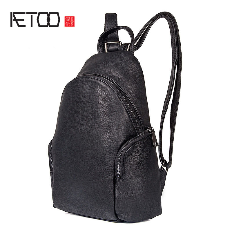 AETOO New female lychee pattern simple female shoulder bag mini shoulder bag aetoo 2017 new 100