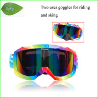 Free Shipping FG11 Snowing Goggles Ski Goggles Two Uses Glasses For Riding And Sking