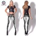 2016 women leggings hot sale free shipping skeleton printing free size high elastic Ladies leisure casual Leggings pencil pants
