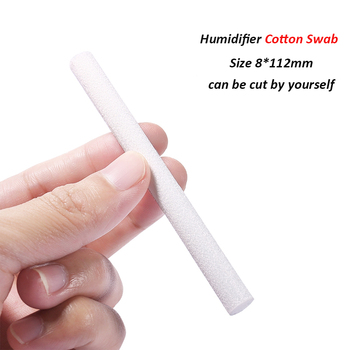 8mm*112mm Cotton Swab for Air Humidifier for car diffuser Aroma Diffuser Humidifiers Filters Can Be Cut Replace Parts 10 PCS/Lot Humidifier Parts
