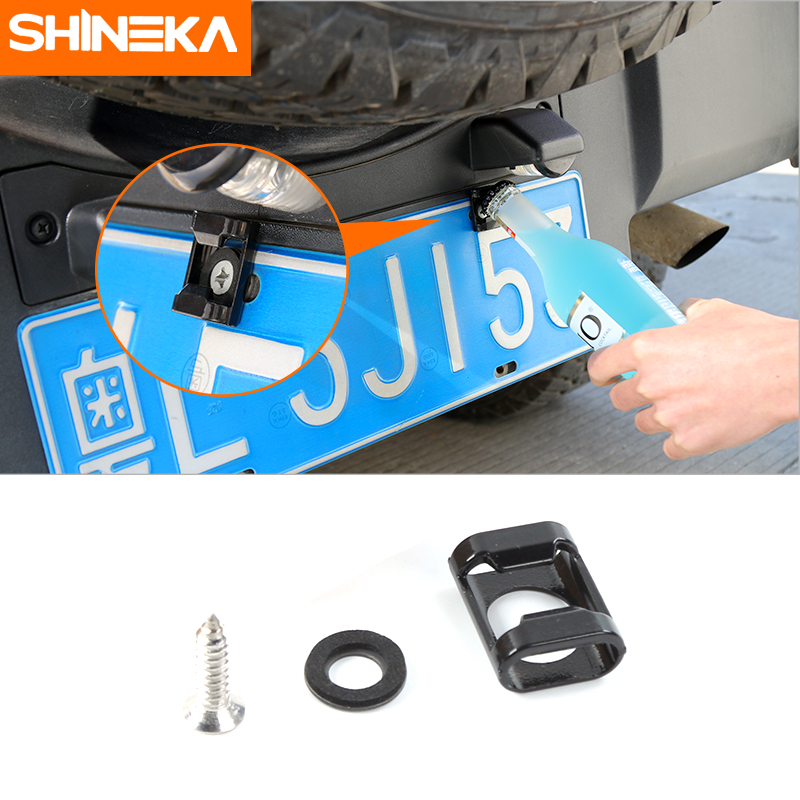 SHINEKA Rear License Plate Mounted Accessory For Jeep Wrangler JK ,TJ, F-150  Screws Suitable Beer Bottle Opener