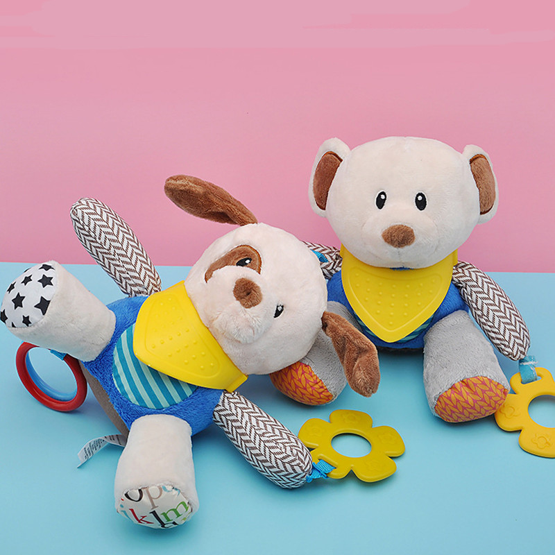 Baby Toys 0 12 Months Plush Bear Dog Rattles Toys For Newborn Toddlers Teether Bedtime Cute Baby Boy Toys Brinquedos Para Bebe