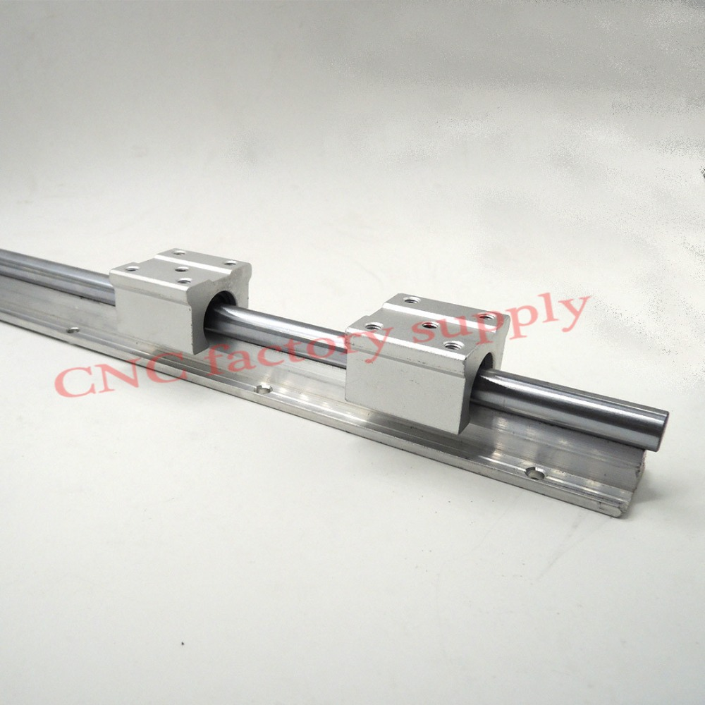 Free shipping SBR12 12mm rail length 300mm to 600mm linear guide with 2pcs SBR12UU Set cnc router part linear rail 10pcs lot free shipping sbr12uu 12mm linear ball bearing block cnc router sbr12 linear guide