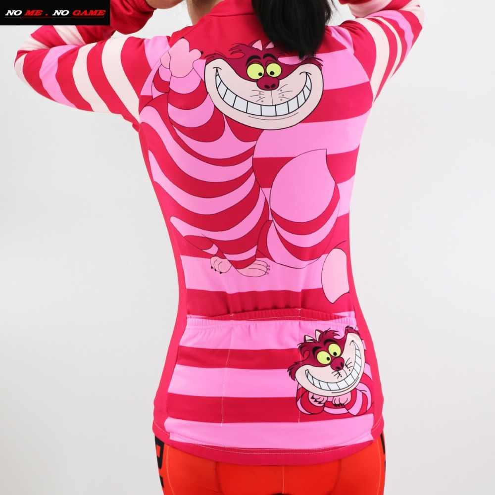 2019 новая женская одежда для велоспорта с рисунком из мультфильма розовая Зимняя флисовая велосипедная одежда с длинными рукавами и флисовая забавная велосипедная Джерси