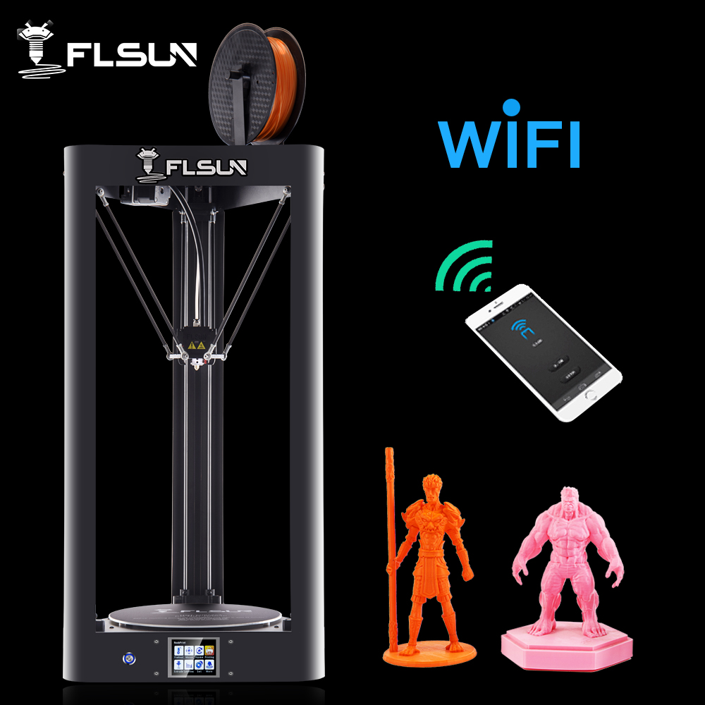 High Speed Flsun 3D Printer Auto-Level Large Size Pre-assembly Flsun-QQ 3D Printer Heated Bed Touch Screen Wifi Module Support 2017 tronxy x5 newest large printing area open build aluminium frame 3d printer kit flsun cube printer 3d with heated bed