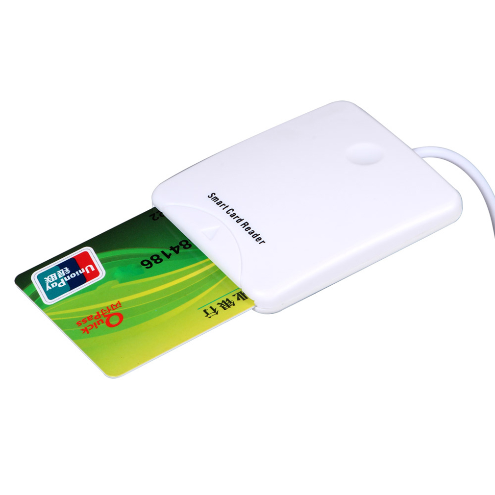 Smart Card Reader Portable  USB3.0/2.0/1.1 Full Speed Smart Chip Reader IC Cards Reader Credit Card Readers With SIM Slot