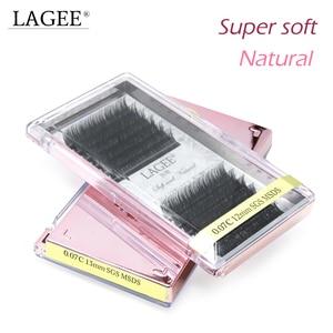 Image 2 - Lagee 5 casos/lote todo o tamanho extensões de cílios individuais premium falso sintético vison cílios falsos macio e natural