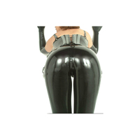 New Sexy Latex Pants Rubber Fashion Hot Sale Black Pants Trousers Size XXS XXL