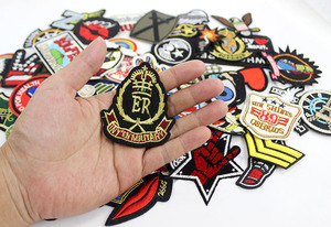 Image 2 - 50pcs/lot  clothes patches badges iron on sewing on cropped patches for clothes backpack Stickers Appliques