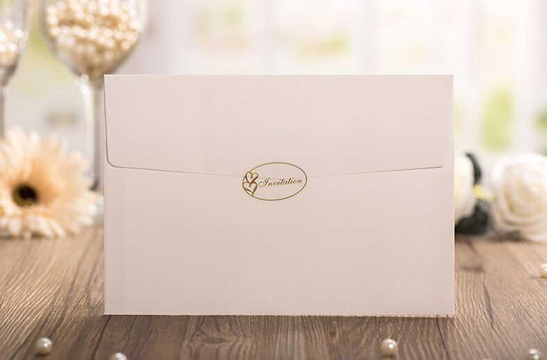 Picky Bride Vintage Wedding Invitations Laser Cut Tree Wedding Invitation Card Customized Wording Pack Of 50