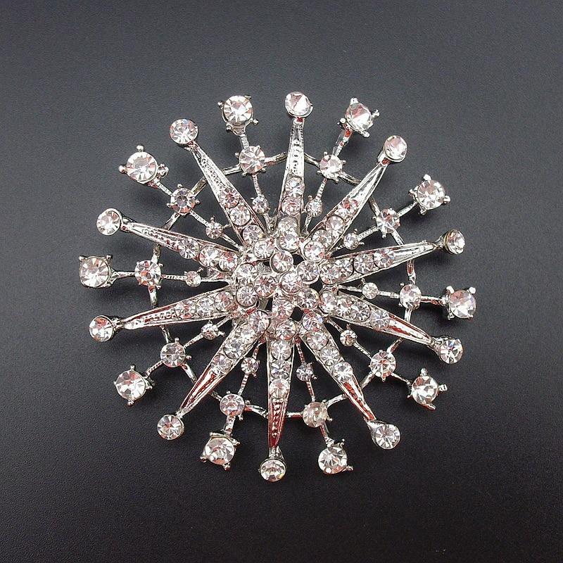 New Flashing Shiny Applique Rhinestone Retro Unisex Metal Alloy Pin Brooch Jewelry, Item NO.: BH7539