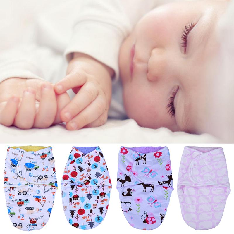 Cute Cartoon Print Newborn Baby Infant Wrap Swaddling Blanket Baby Bedding Thick Warm Berber Fleece Envelopes Sleeping Soft Bag eglo outdoor 4182