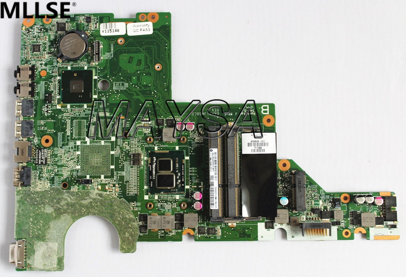 DAAX1JMB8C0 637584-001 mainboard Fit For HP Pavilion G62 CQ62 Laptop Motherboard i3-370M CPU HM55 HD6370M 512MB DDR3 mb psm06 001 mbpsm06001 for acer aspire 4745 4745g laptop motherboard hm55 ddr3 ati hd5470 512mb discrete graphics mainboard