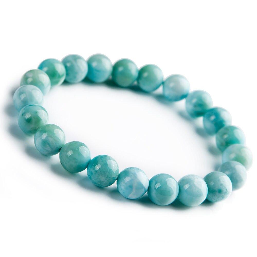 Livraison gratuite 9mm naturel bleu Larimar pierre extensible perles rondes femme Bracelet AAALivraison gratuite 9mm naturel bleu Larimar pierre extensible perles rondes femme Bracelet AAA