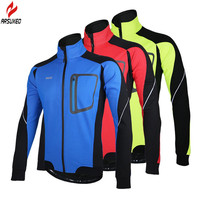 2016 New Men Windproof Thermal Fleece Cycling Jerseys Winter Autumn Cycling Windcoat Jackets Ropa Ciclismo Bike