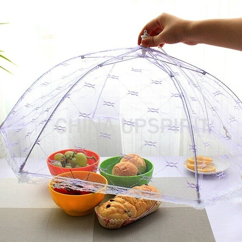 Umbrella Lace Folding Anti-fly Mosquito Table Food Dish Cover Kitchen Accessories Household Kitchen Gadget Cocina Accesorio,Q