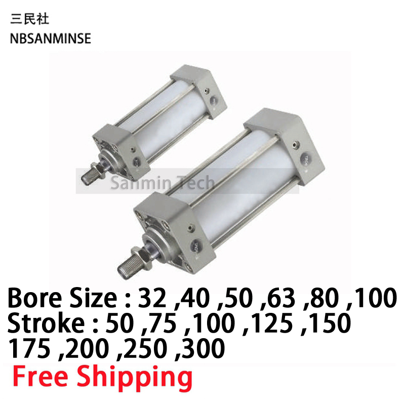 MB ISO Air Cylinder Pneumatic Standard Cylinder Double Acting Single Rod SMC Similar Type Compressed Air Cylinder Sanmin high quality double acting pneumatic gripper mhy2 25d smc type 180 degree angular style air cylinder aluminium clamps